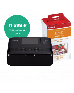 SELPHY CP1300 Black + SELPHY PAPER RP-108