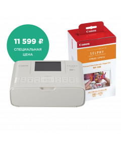 SELPHY CP1300 White + SELPHY PAPER RP-108